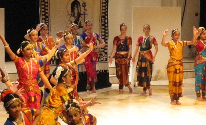 Indian Bharatanatyam traditional dance