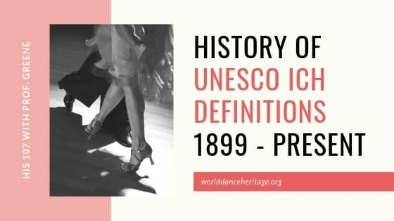 History of UNESCO Definitions on Cultural Heritage (2.2)