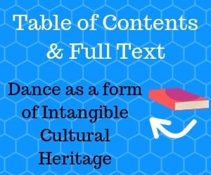 Dance research and theory table of contents