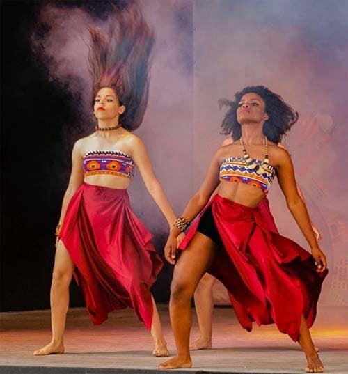 Tahitian dance group