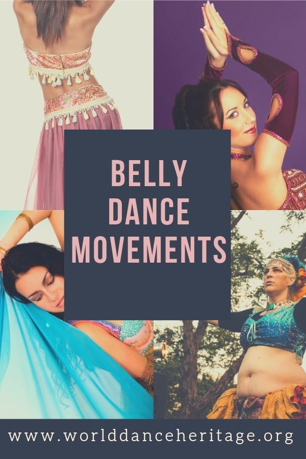 Belly dance movements glossary and terminology