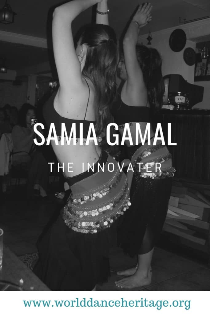Page about the belly dancer Samia Gamal