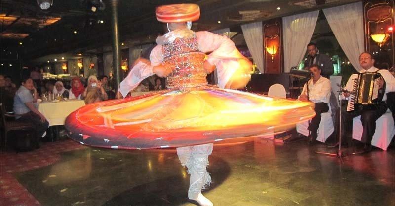 Enjoying tradition dance in Cairo, Egypt.