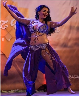 Camelia the belly dance who also works with the Nile Group festival