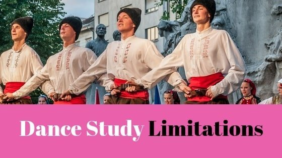 Limitations of the Dance Study (7.2)