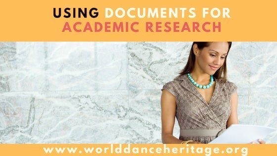 Using Media and Documents for Dance Research (4.4.2)