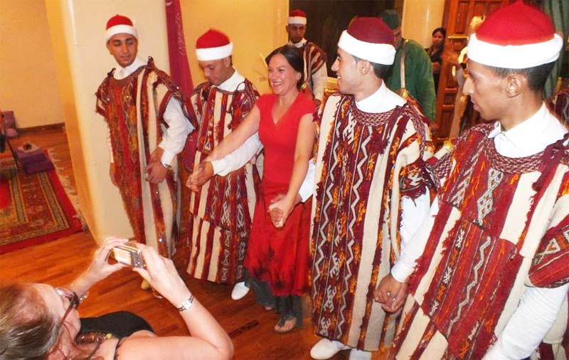 Enjoying dance in Egypt and Morocco on a dance tour.