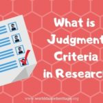 Judgment criteria in a PhD