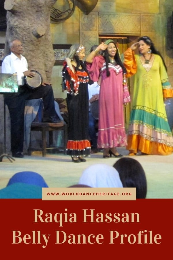 Profile and analysis of the dancing style of Raqia Hassan the bellydancer.