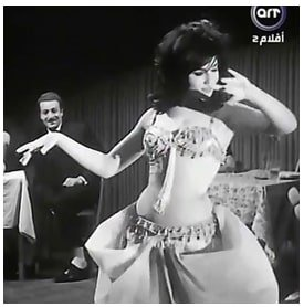 Soheir Magdi. Video still from the 1964 movie-Lil Rigal Faqaat