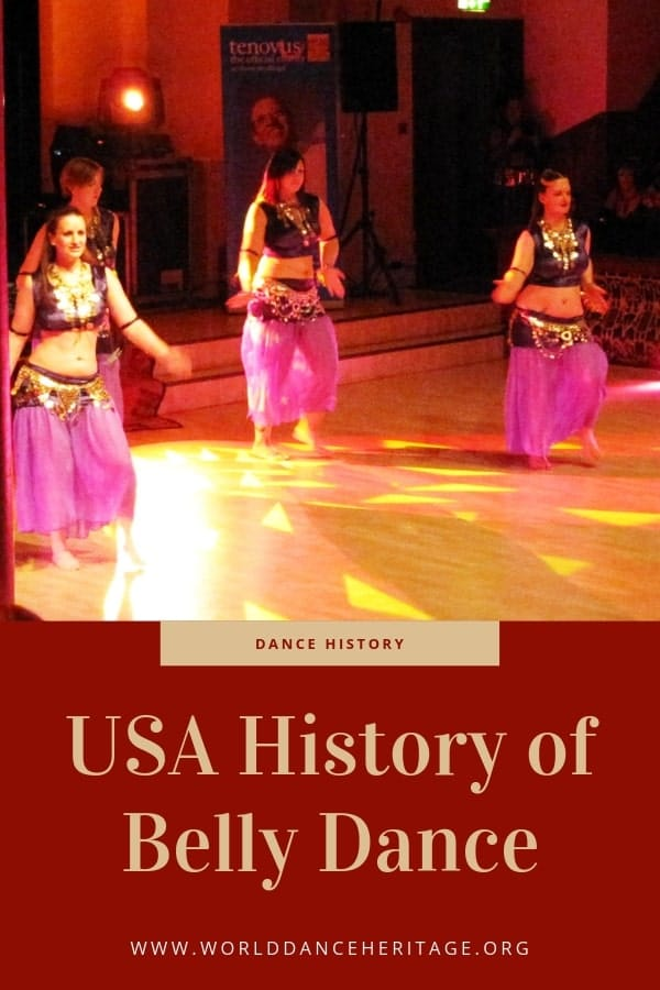 The influence of the USA in the history of belly dance and raqs sharqi.