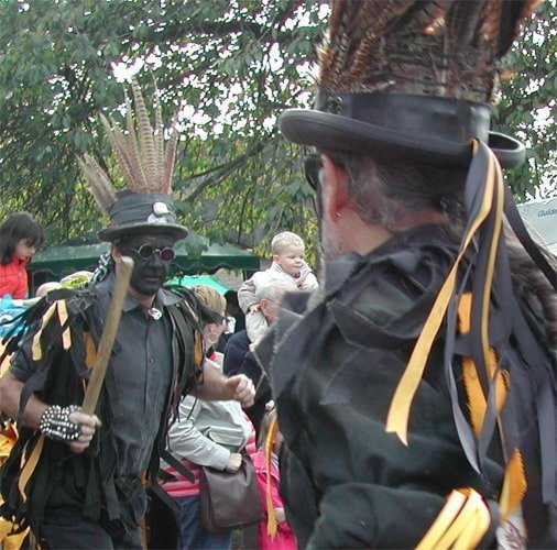Morris dancing with sticks